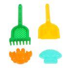 Песочный Набор №567: Лопатка №30, грабельки №30, формочки (краб №2 + ракушка №2)