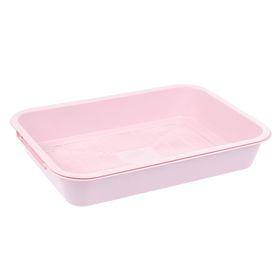 Туалет средний с сеткой, 36 х 26 х 6,5 см, розовый