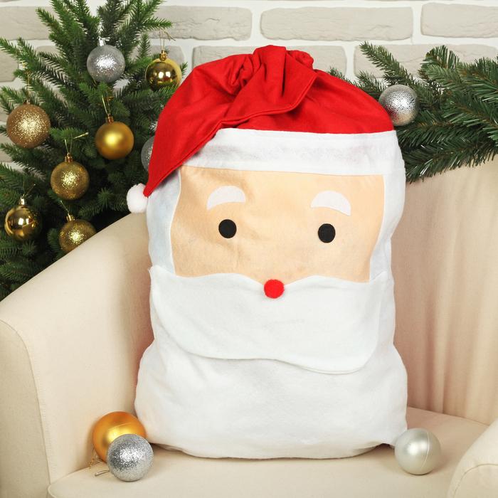 """Новогодний мешок """"Дед Мороз в колпаке"""""""