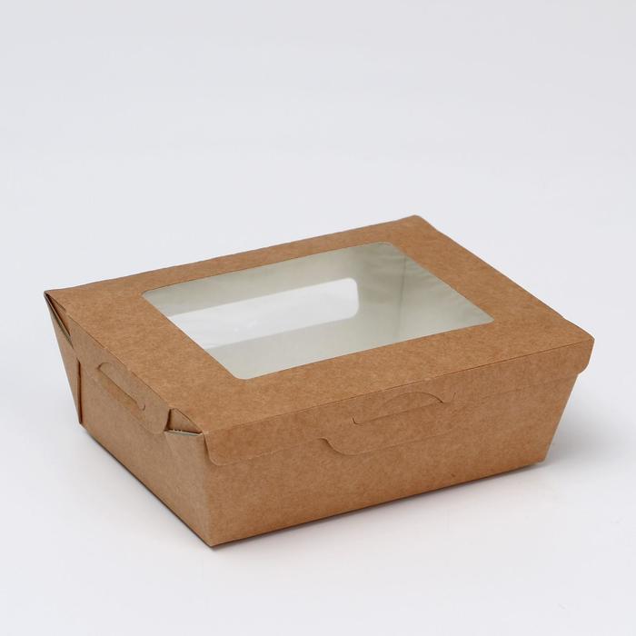 Упаковка, салатник с прозрачным окном, 15 х 11,5 х 5 см, 0,6 л