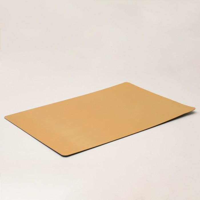 Подложка усиленная, 37 х 28 см, золото-жемчуг, 1,5 мм