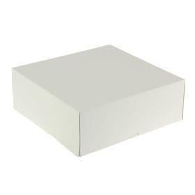 Кондитерская упаковка, короб, белый, 32,5 х 32,5 х 12 см