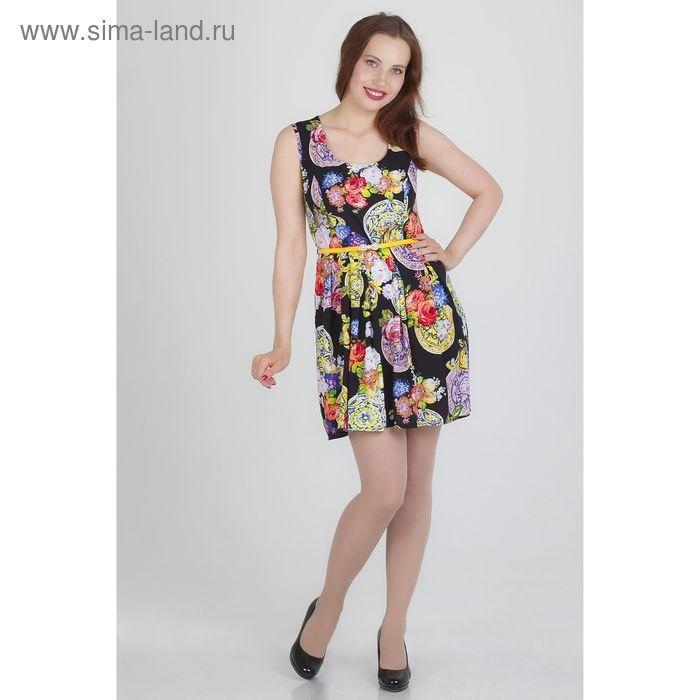 Платье женское, размер 46, рост 168, цвет черный (арт.17139)