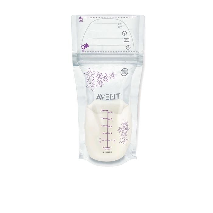 Пакеты для хранения грудного молока Avent, 180 мл, 25 шт.