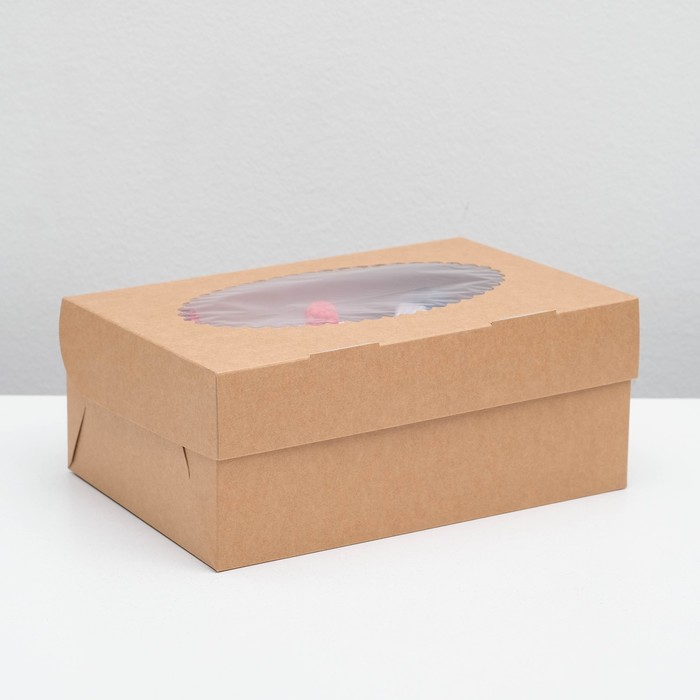 Упаковка для маффинов 25 х 17 х 10 см, на 6 шт - фото 159010267