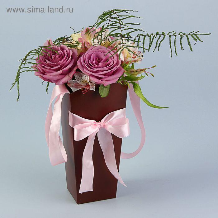 Пакет для цветов шоколадный, 24х12х10 см