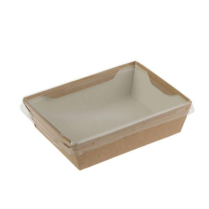 Упаковка, салатник с прозрачной крышкой, 16,5 х 12 х 4,5 см, 0,5 л