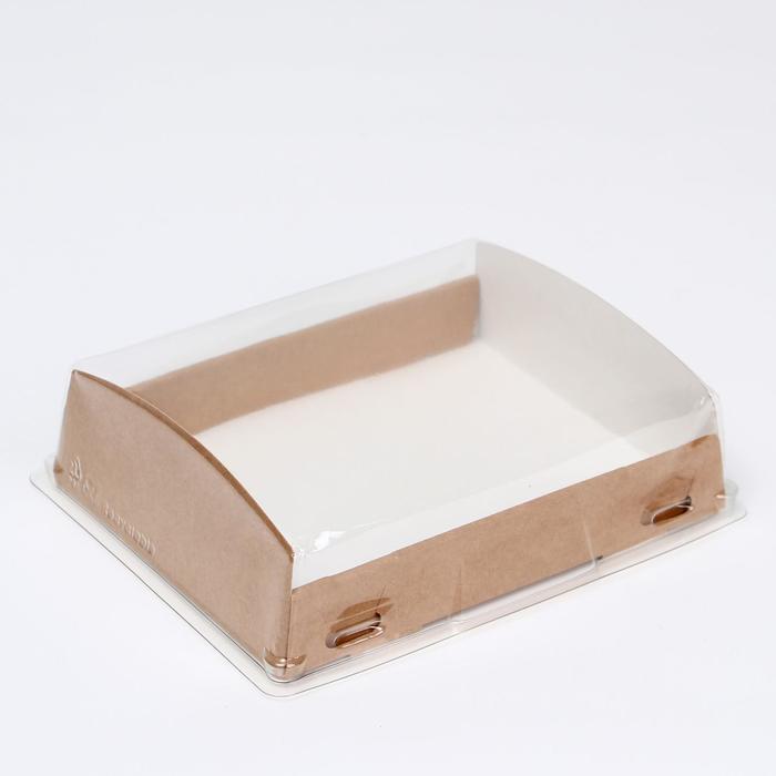 Упаковка для продуктов с прозрачным куполом, 18.5 х 14 х 5.5 см, 1л