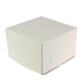 Кондитерская упаковка хром эрзац, короб белый 30 х 30 х 19 см