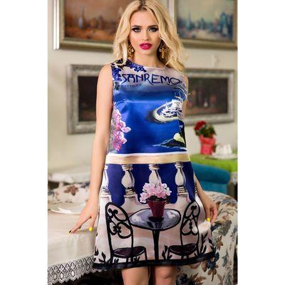 Платье женское SbS 71185  цвет Санремо, размер M (44), рост 168