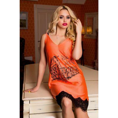 Платье-комбинация женское цвет персик, размер XL (48), рост 168