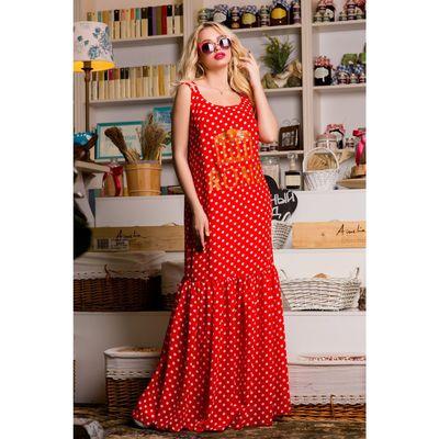 Сарафан женский SbS 71182  цвет красный мелкий горох, размер L (46), рост 168
