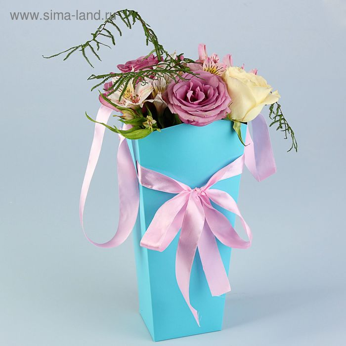 Пакет для цветов мятный, 32х15х13 см