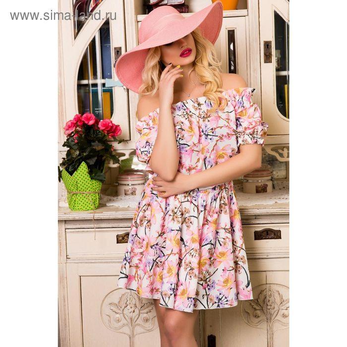 Платье женское SbS 71184, цвет розовый, размерL (46), рост 168 см