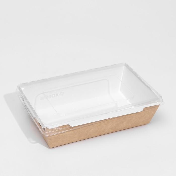 Упаковка, салатник с прозрачной крышкой, 20,7 х 12,7 х 5,5 см, 0,8 л