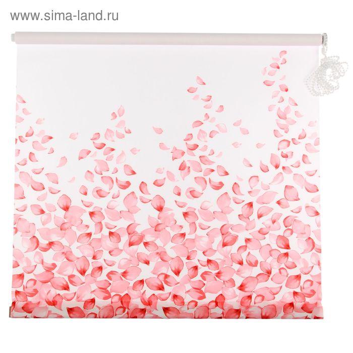 """Ролет-штора 60х160 см """"Лепестки"""", цвет розовый"""