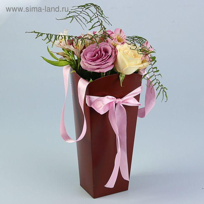 Пакет для цветов шоколадный, 32х15х13 см