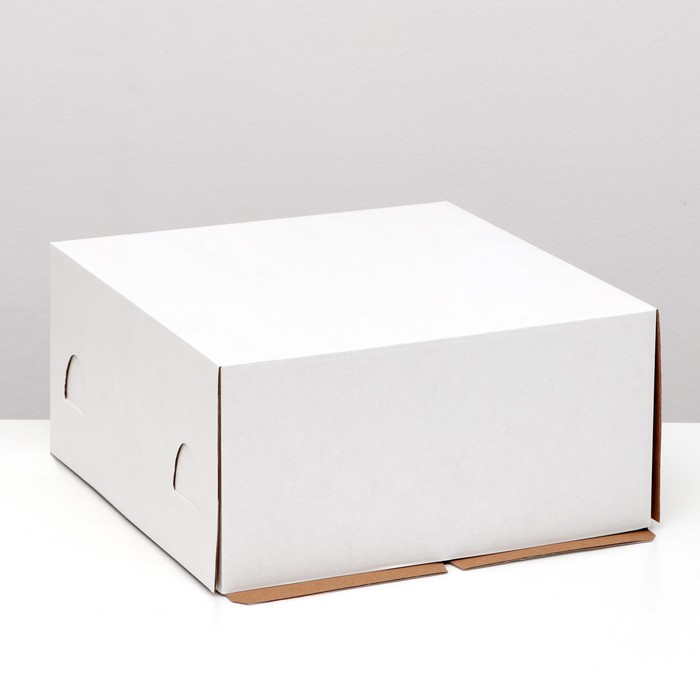 Кондитерская упаковка, короб белый 28 х 28 х 14 см - фото 308035181