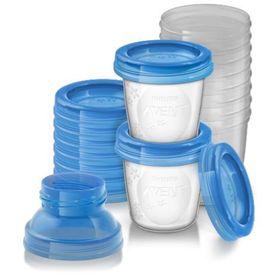Контейнеры для хранения грудного молока Avent, 10 шт., с двумя адаптерами Ош