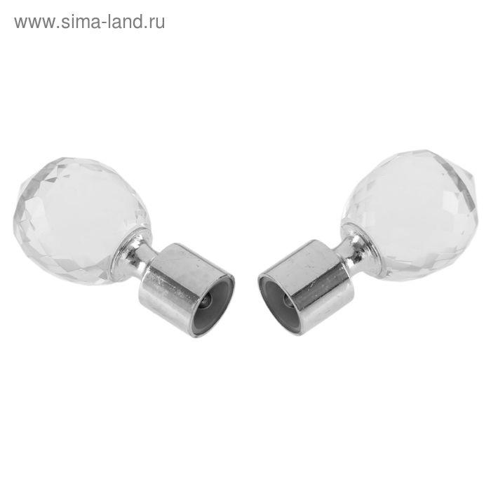 "Наконечник ""ЛЕВША КРИСТАЛЛ"" серебро глянец d 16 мм (2 шт)"