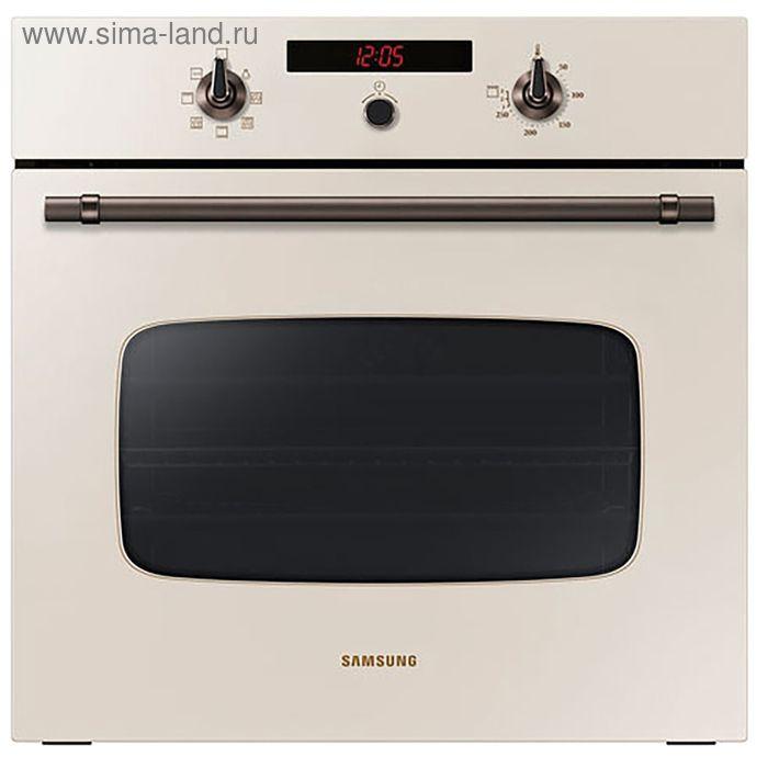 Духовой шкаф Samsung NV70H3350CE, электрический, 70 л, бежевый