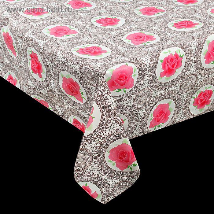 Клеенка столовая на нетканой основе 30 м, ширина 137 см, 0,1 мм