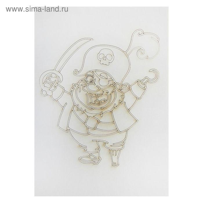"""Трафарет-открытка """"Пират"""" А5"""