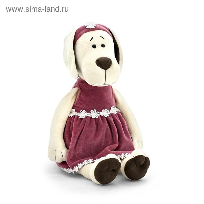 Мягкая игрушка «Собачка Лапуська в бархатном платье»