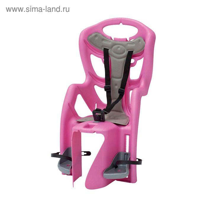 Велокресло заднее Bellelli Pepe Clamp, крепление на багажник, цвет розовый