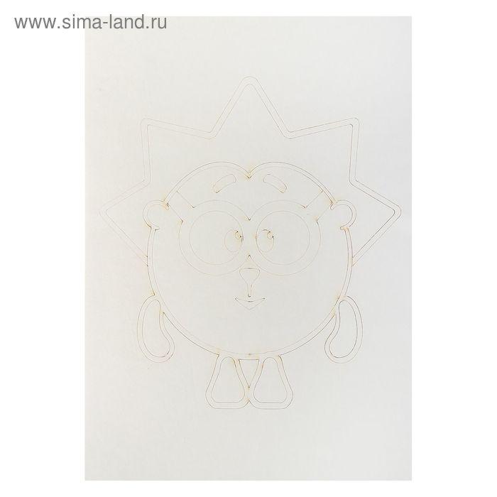 """Трафарет-открытка """"Ёж """" А5"""