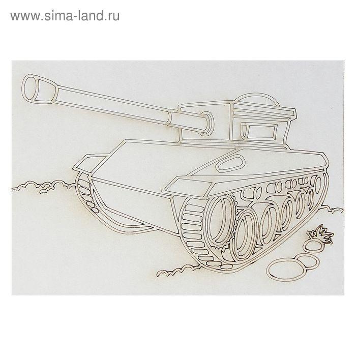 "Трафарет ""Танк"" A5"