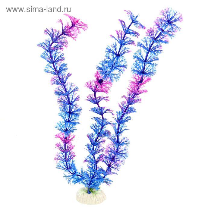 Растение искусственное аквариумное высотой до 28 см