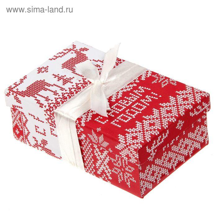 """Набор для декорирования подарочной коробки """"Вязаный"""", 14 х 8,5 х 5 см"""