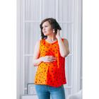 Блузка для беременных 2248, цвет оранжевый, размер 46, рост 170