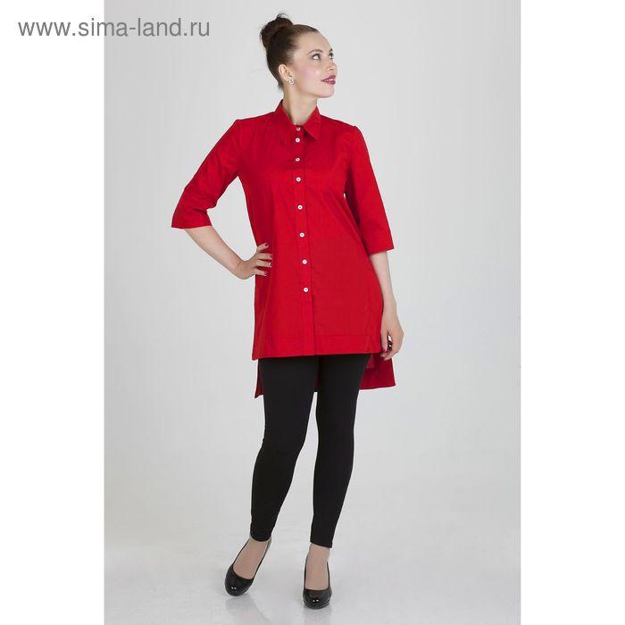 Платье женское, размер 46, рост 168, цвет красный красный х/б (арт. 17247)