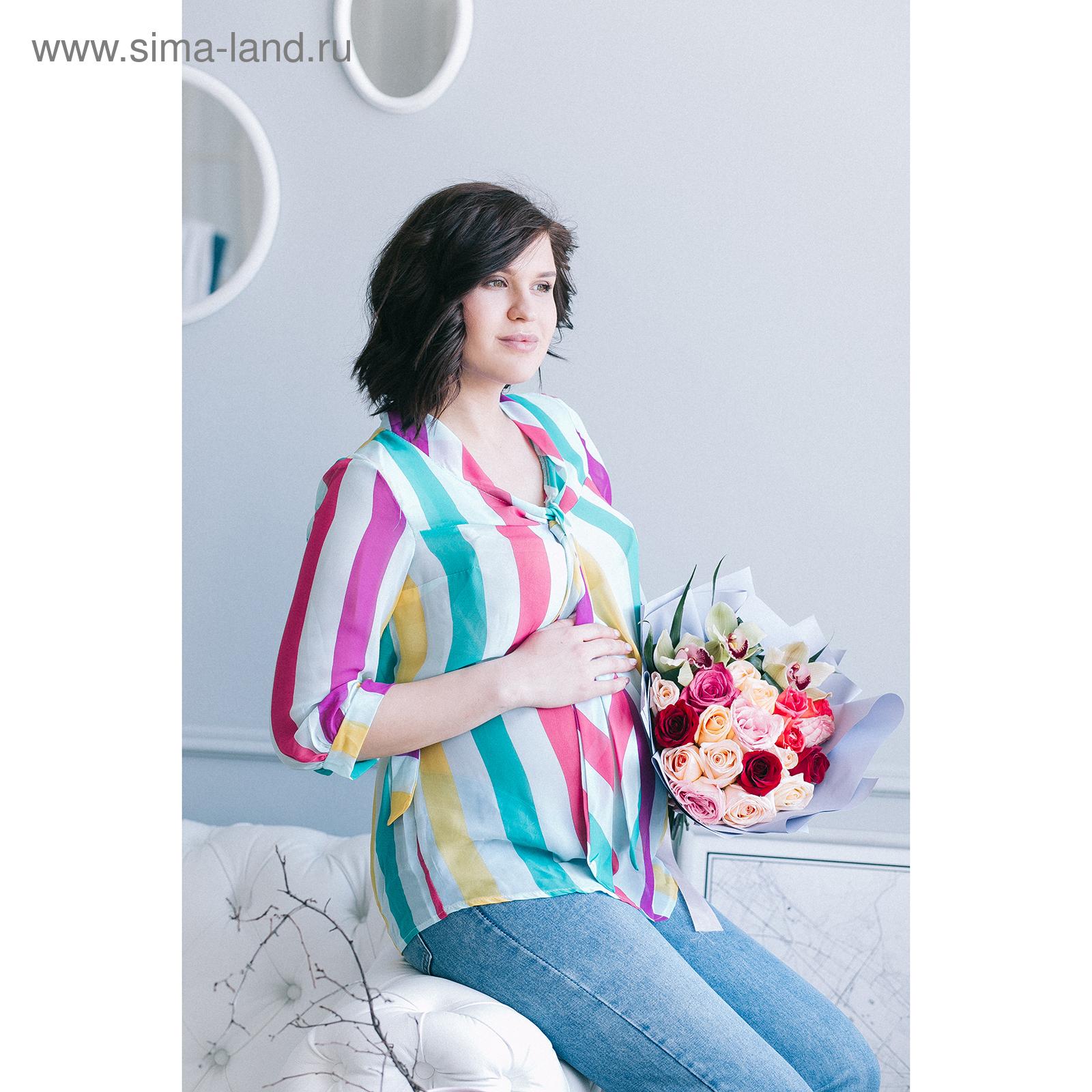 256483dc87ea Блузка для беременных 2207, цвет в полоску, размер 46, рост 170 ...