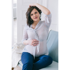 Блузка для беременных 2207, цвет в горох, размер 44, рост 170
