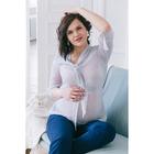 Блузка для беременных 2207, цвет в горох, размер 46, рост 170