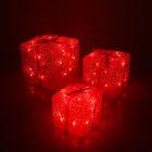 "Фигура акрил. ""Подарки"" Кубы 15х20х25 см, 54 LED, 220V КРАСНЫЙ"