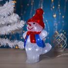 """Фигура акрил. """"Снеговик танцор малый"""" 20х17х29 см, контроллер с димером, 24 LED, 220V"""