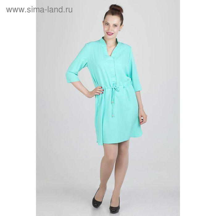 Платье женское, размер 52, рост 168, цвет мята (арт. 17248 С+)