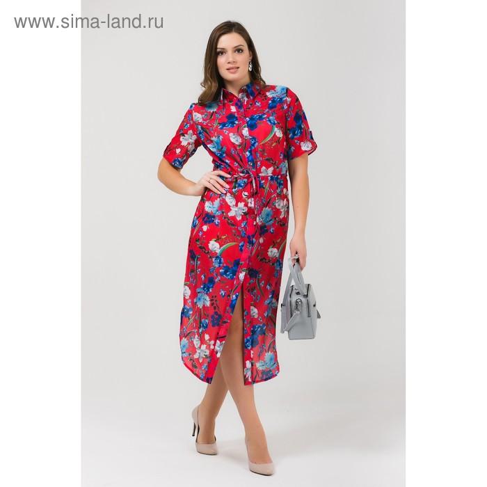 Платье женское, размер, 56 рост, 168 цвет арбуз (арт. 17252 С+)