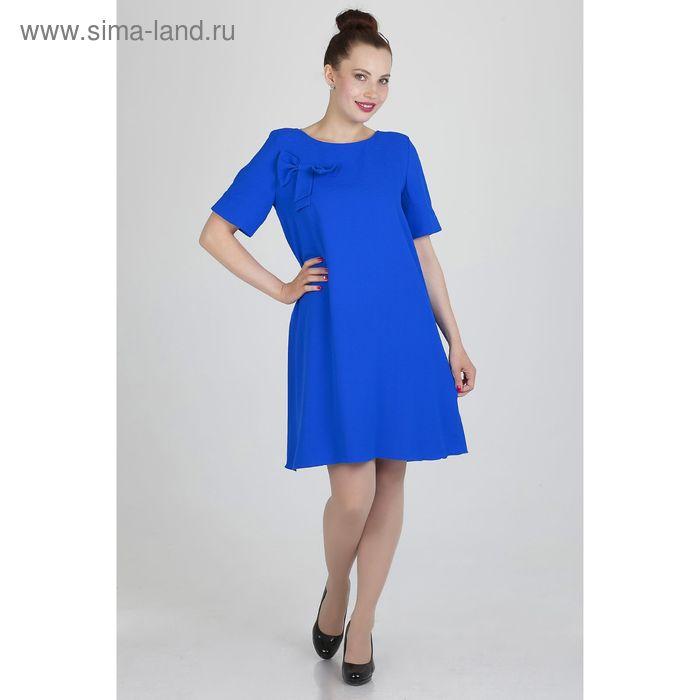 Платье женское, размер 50, рост 168, цвет электрик (арт. 15203 С+)