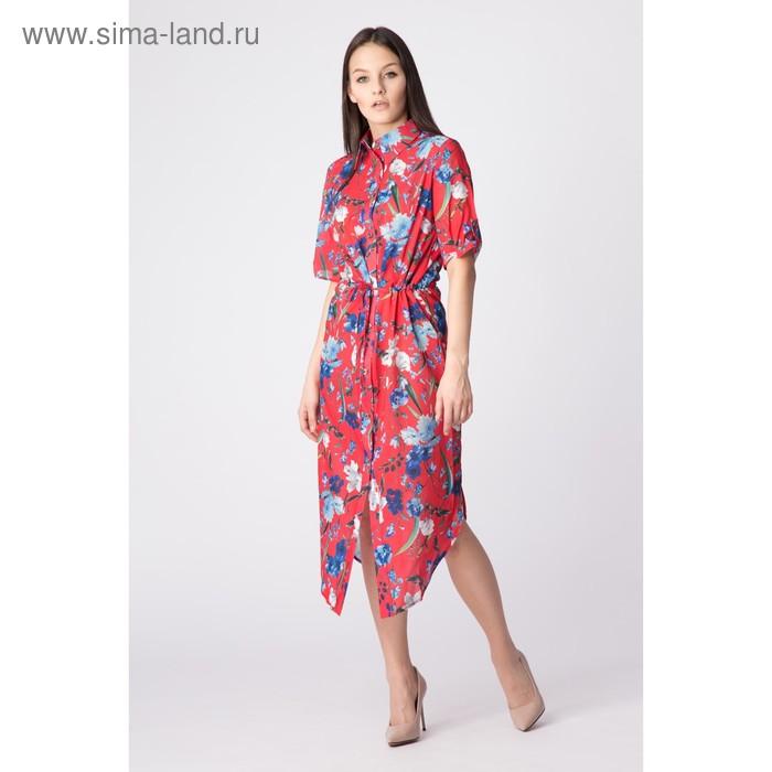 Платье женское, размер 44, рост 168, цвет арбуз (арт. 17252)
