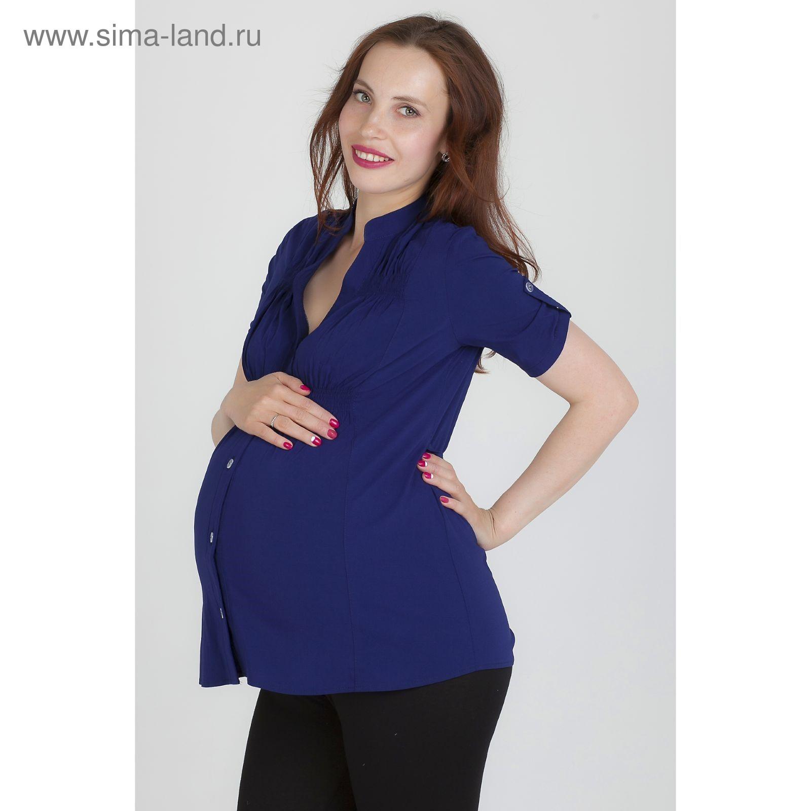 c3ceab0a3188 Блузка для беременных 2242, цвет тёмно-синий, размер 42, рост 170 ...