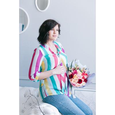Блузка для беременных 2207, цвет в полоску, размер 50, рост 170