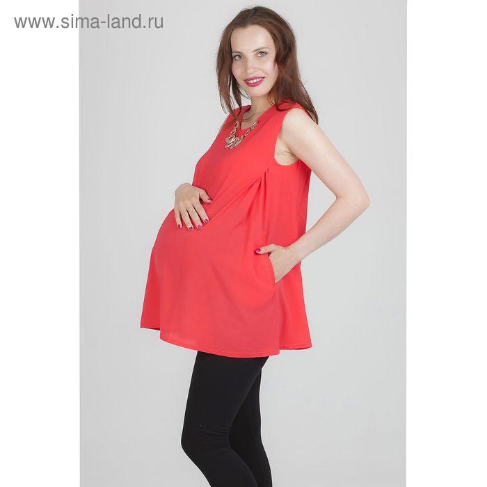 Блузка для беременных 2238, размер 44, рост 170, цвет коралл