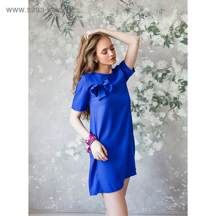 Платье женское, размер 46, рост 168, цвет электрик (арт. 15203)