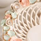 """Конфетница """"Солнышко"""", плетение, цветная лепка, 10 см, микс - фото 888900"""