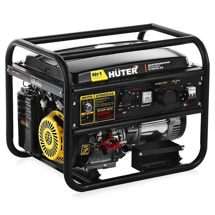 Электрогенератор Huter DY8000LXA, ручной/автом./электростарт, 6.5/7 кВт, 25 л, 220 В
